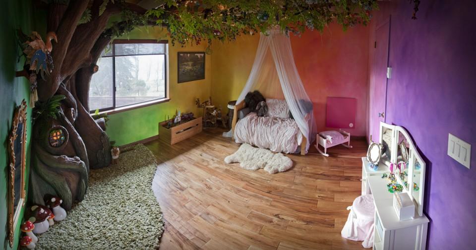 Un papa passe 18 mois construire une chambre de r ve for Description d une chambre de fille