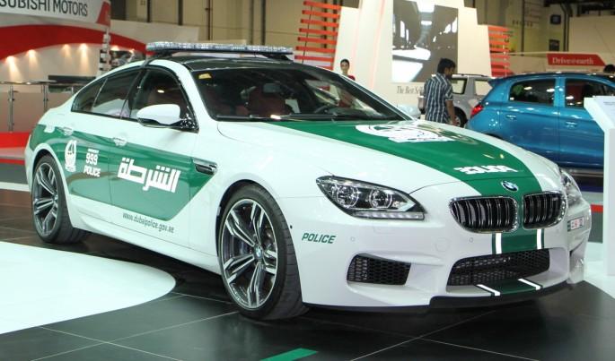 BMW M6 Gran Coupe >> Découvrez les spectaculaires voitures de police de Dubaï